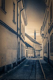 The City Of Eger, Street, Old, Houses, Nostalgia, Mall