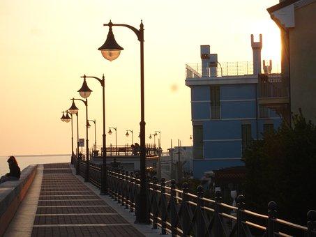 Caorle Ve, Sun, Sunset, Atmosphere, Sea