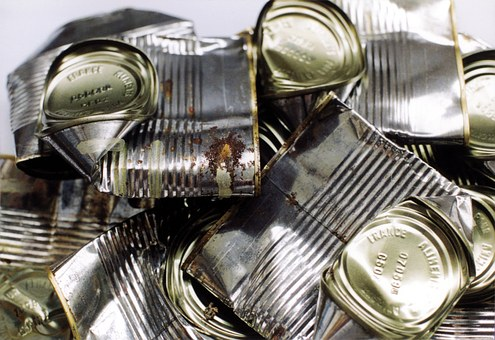 Tin Can, Cans, Dented Metal, Tin, Can, Container