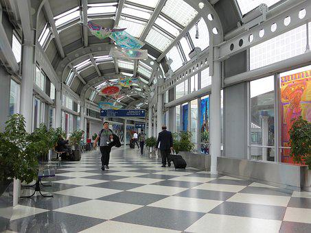 Gang, Walk, Airport, Move, Lobby, Travel, Travelers