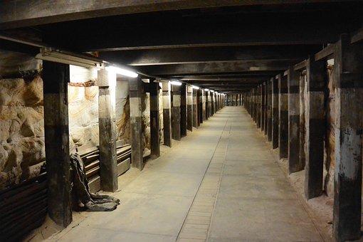 Air Raid Tunnel, Tunnel, Underground Tunnel