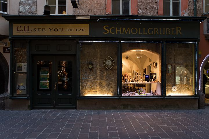 Watchmaker, Shop, Window, Architecture, Historic