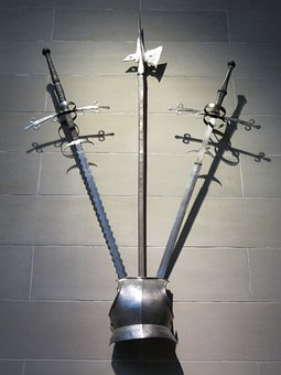 Weapons, Armor, Brestplate, Display, Museum, Halberd