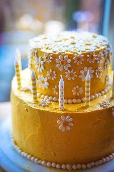 Daisy Cake, Yellow Cake, Birthday Cake, Yellow, Flower