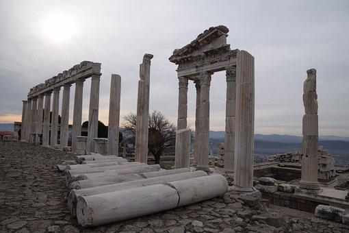 Ruin, Pergamon, Architecture, Ancient, Acropolis
