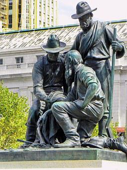 America, Usa, San Francisco, Statue, Bronze, Immigrant