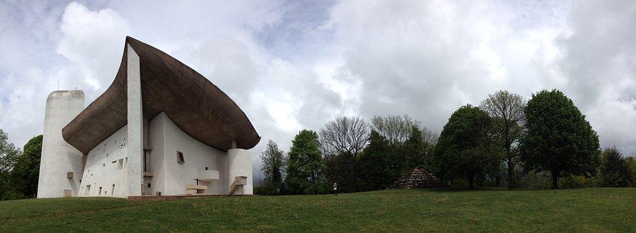 Architecture, Le Corbusier, Ronchamp, Concrete