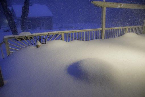 Blizzard, Boston, Snow, Drift, Deep, Cold, Winter
