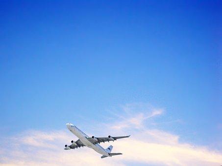 Sky, Blue Sky, Blue, Clouds, Nature, Day, Cloud, Plane