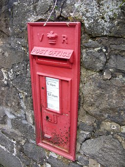 Post Box, British, Post Office, Letters, Post, Mail Box