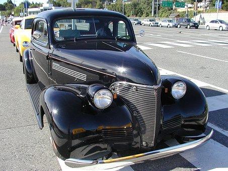 Black, Oldsmobile, Old Timer, Car, Vehicle, Automobile