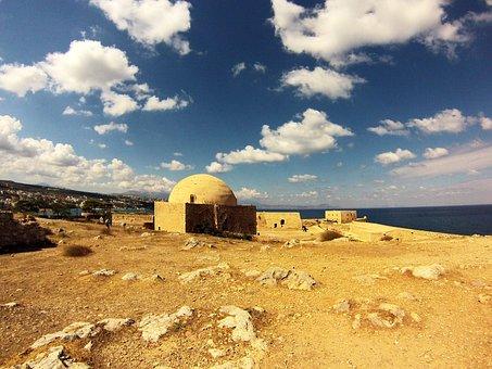 Fortress, Rethymno, Monument, Acropolis, Castle, Cloud
