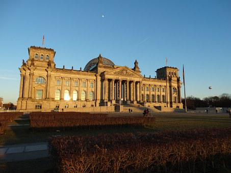 Court, Palace, Berlin, Sunset