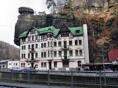 Hotel, Hotelanlange, Building, Rock, Home, Elbe Valley
