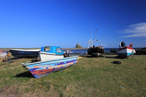 Holy Island, Northumberland Coast, Fishing Boats