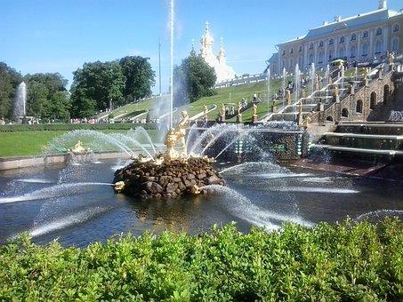 Peterhof, Fountain, Petrodvorets Peterhof, Petersburg