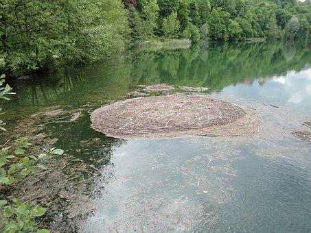 Lake, Burghausen, Woehrtsee, Water, Whirlpool