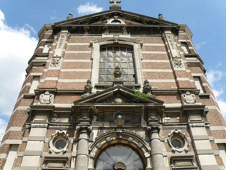 Antwerpen, Militair Hospital, Belgium, Facade, Building