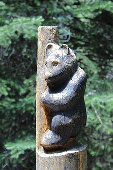 Mt Lemmon, Arizona, Bear, Wood, Carving, Black Bear