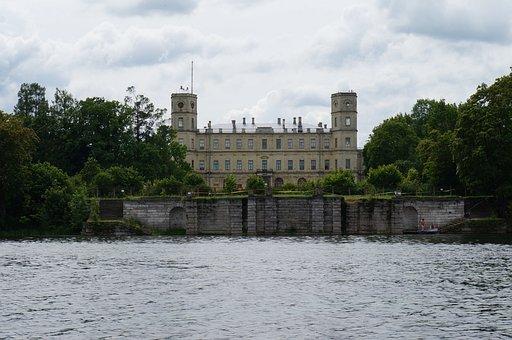 Gatchina, Water, Palace, Nature, Russia