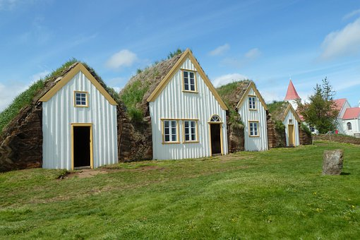 Iceland, Farmhouse, North, Court Glaumbær, Travel