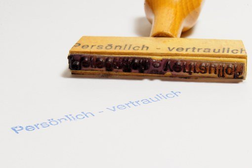 Stamp, Wood Stamp, Personal, Confidential, Office