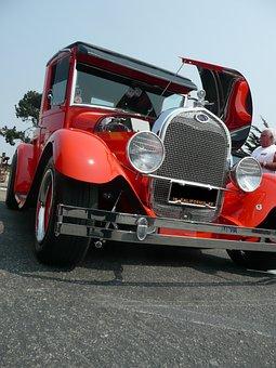 Red, Old Timer, Oldsmobile, Vehicle, Automobile, Car