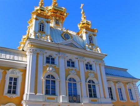 Petrodvorets Peterhof, Russia, Palace, Gold