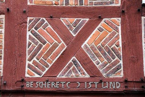 Building, Home, Truss, Pattern, Masonry