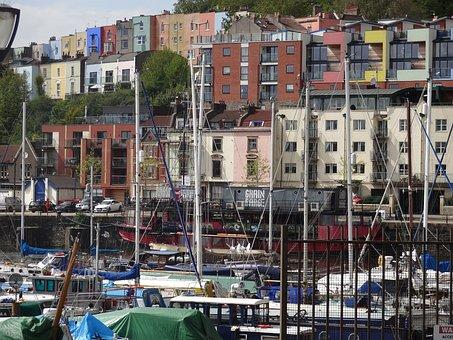 Bristol, England, Boat Yard, Boats, Recreation, Masts