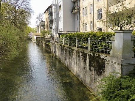 Buildings, Houses, Retaining Wall, Architecture