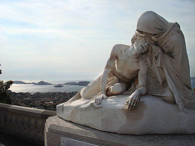 Marseille, Statue, Maria, Jesus, Sea, Port, Sea View