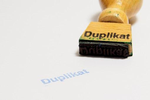 Stamp, Wood Stamp, Duplicate, Office, Paper