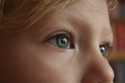 Eye, Face, Looking, Girl, Female, Young, Toddler