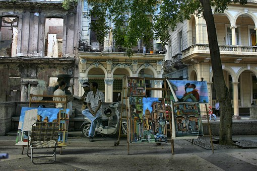 Pictures, City, Street, Walk, Buildings, Old, Cuba