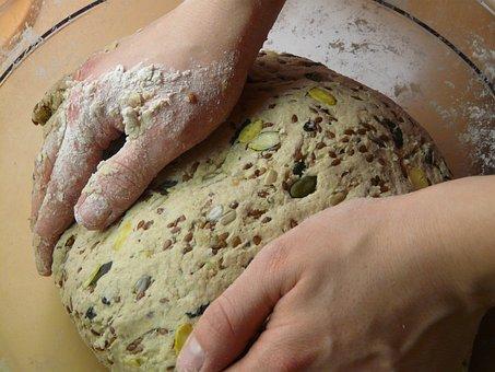 Bread, Form, Unwrought, Bake, Dough, Knead, Flour, Bowl