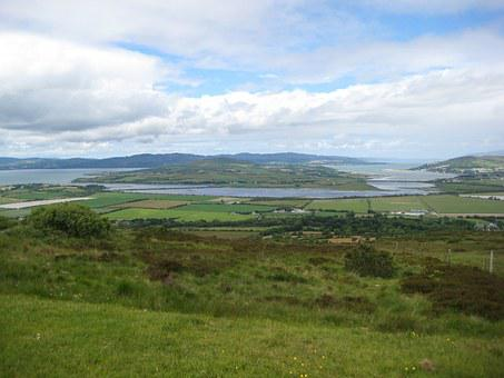 Inch Island, Donegal, Ireland, Countryside, Fields