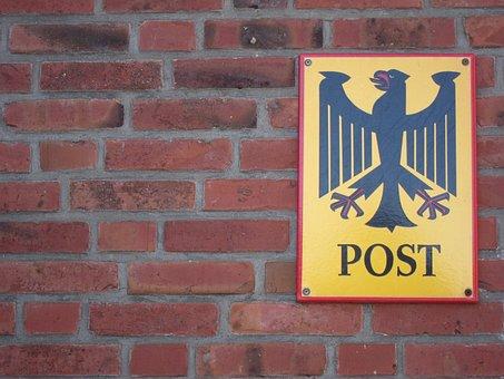 Shield, Post, Deutsche Bundespost, Federal Eagle