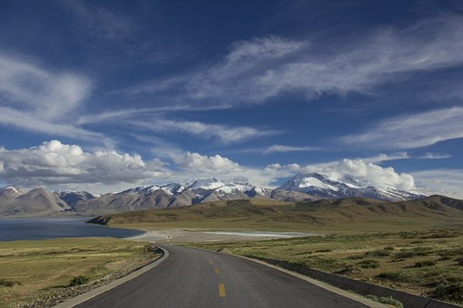 Road, Distance, Winding Road, Travel, Nature, Sky