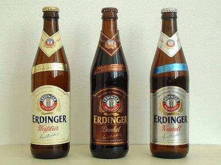 Erdinger, Beer, German, Alcohol, Drink, Spirits, Macro