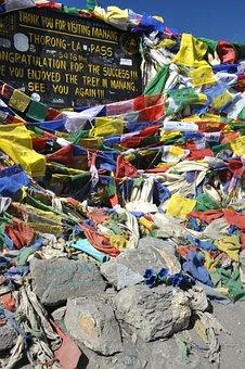 Prayer Flags, Flags, Annapurna, Trekking, Nepal