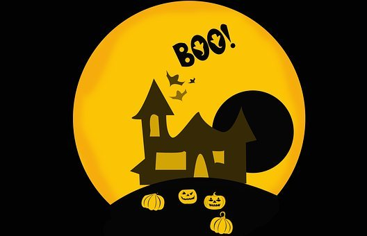 Haloween, Background, Card, Postcard, Scary, Black, Boo