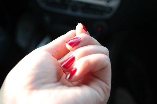 Nail Polish, Nail Varnish, Fingernails, Hand, Red