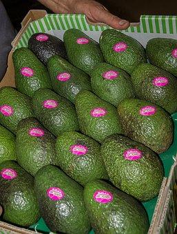 Hass Avocado, Avocados, Fruit, Food, Green, Box, Labels