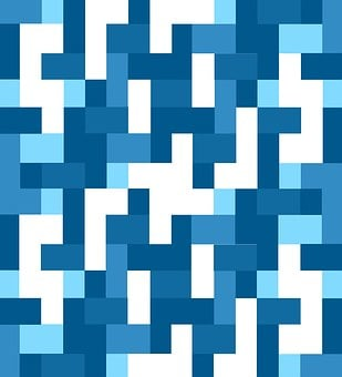 Geometric, Blue, Shades, Hues, Abstract, Maze, Navy