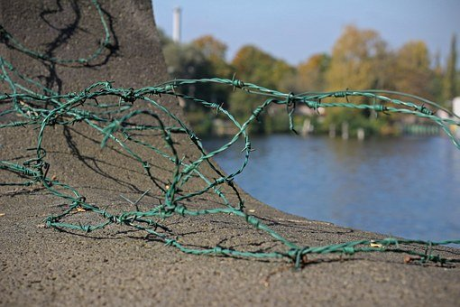 Barbed Wire, Wire, Metal, Security, Demarcation