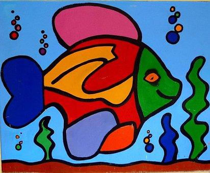 Graffiti, Barañain, Navarre, Art, Fish, Mural
