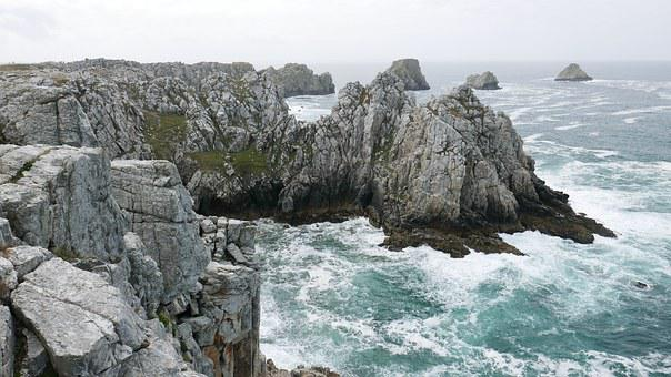 Brittany, Path, Customs, Hiking, Cliff, Ocean