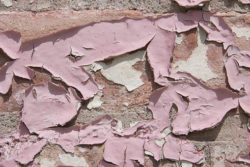 Pain, Peeling, Pink, Texture, Wall, Urban, Grunge, City