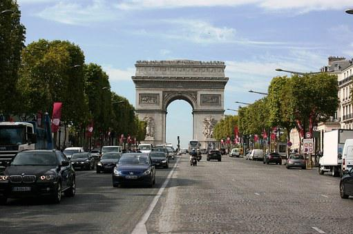 Arch Of Triumph, Champs Elysees Avenue, Paris